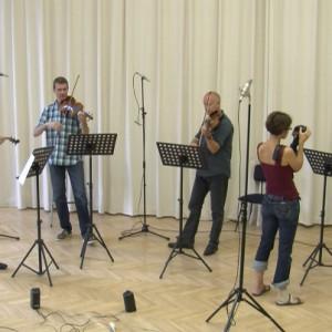 A Lanner Kvartett lemezfelvételén